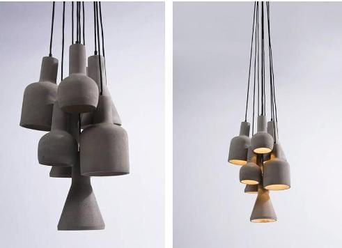 This lamp consists of nine different shaped shades. The lamp is also available in three shades. Lamp available via Dutch webshop Zooff.