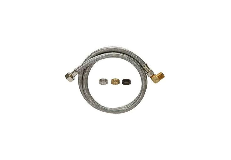 "Fluidmaster 1W48CUK 48"" Universal Stainless Steel Dishwasher Connection Hose 1/ Accessory Dishwasher Hose Assembly"