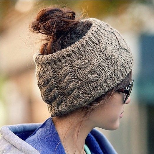 Fashion Korean Winter Warm Women Braided Knit Wool Hat Cap Headband Hair bands #other #Headband