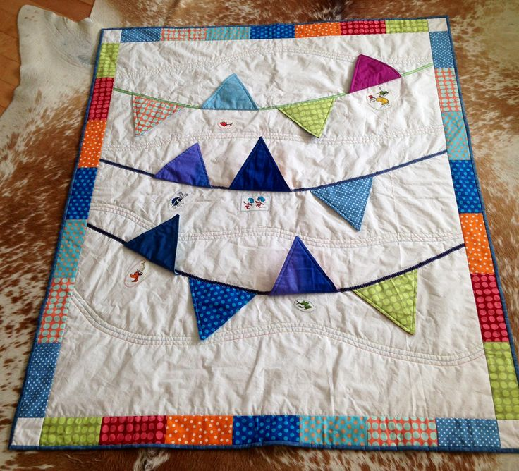 Dr Seuss baby bunting quilt