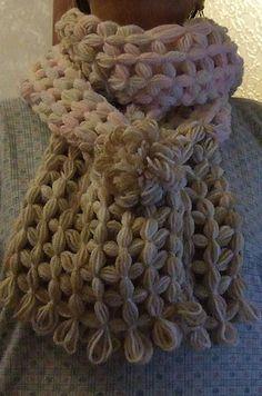 Tutorial sciarpa al telaio quadrato di Clara |Chiocciolina creativa