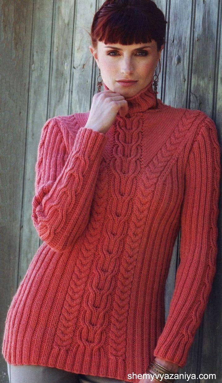 свитер с крупной резинкой и косами. Обсуждение на LiveInternet - Российский Сервис Онлайн-Дневников