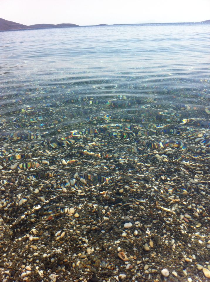 Crystal claw water at Kalamitsa beach! Skyros island greece