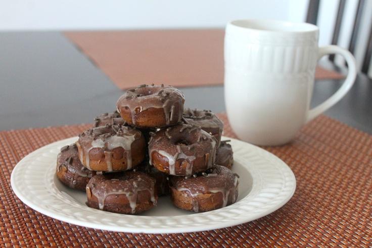Mocha donuts with mocha frosting!
