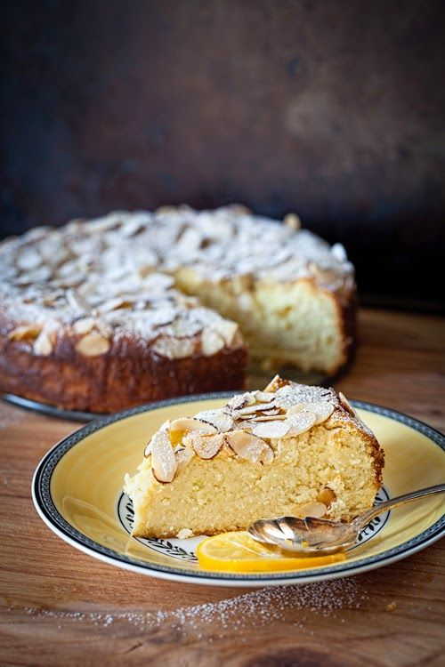 Meyer Lemon Ricotta Cake with Almonds (no flour) at Cooking Melangery