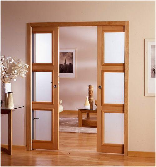 """les modèles de """"porte galandage"""" existent pour tous types de cloisons intérieures.Ce type de porte est idéal pour les pièces où la place est comptée"""