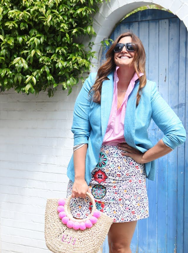 An embroidered mini skirt that will stop them dead in their tracks! Oh and a beautiful pom pom bag for fab summer style.