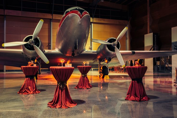 MOTAT's Aviation Display Hall. #MOTAT #Function #Planes #Party #Cocktails #Unique #Events #Corporatefunction #Christmas #Aviation #Museum www.motat.org.nz