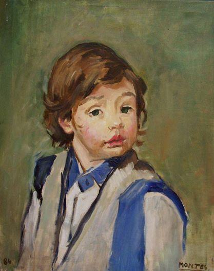 """Pepe Montes """"Niño"""" Óleo sobre tela 57 X 45 cms. Año 1984 http://www.portondesanpedro.com"""