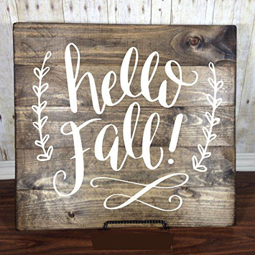 "#Fall #Decorations - #Vinyl #Wall #Decal, ""Hello Fall!"", #Autumn #Art, #Fall #Home #Decor, #Autumn #Equinox to #Winter #Solstice  Hello Fall! Add this greeting to your #fall #decorations.  place this in your bedroom, primary, or other religious room. Easy to apply to your #wall, instructions included #Vinyl lasts for years Doesn't harm the #wall   #Vinyl designs from CustomVinylDecor are made of top quality matte finish #vinyl https://food.boutiquecloset.com/product/fall-deco"