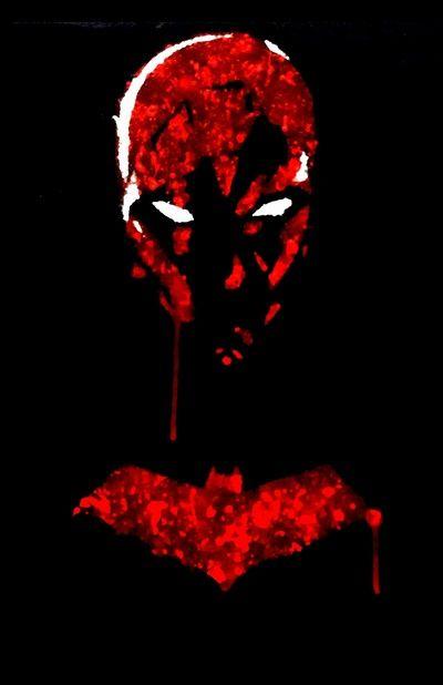 Jason Todd Red Hood | Red Hood Jason Todd splatter Art Print by justinart13 | Society6