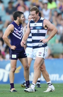 should have hit him harder Stevie J.......NAB Cup Geelong Cats v West Coast Eagles, round 1 - Photo Gallery | Geelong Advertiser | geelongadvertiser.com.au