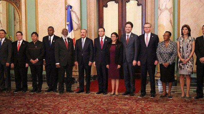 Danilo Medina recibe a ministros de Relaciones Exteriores de la CELAC