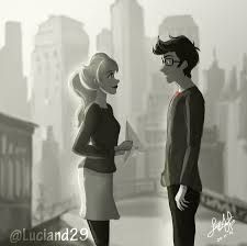 peter parker and gwen stacy/ paperman crossover
