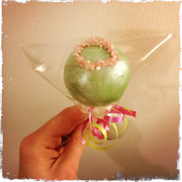 Tiara ring on top of cake pop for princess party theme