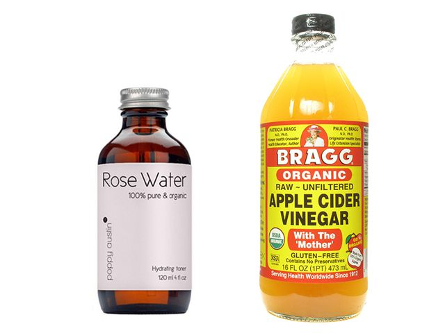 DIY SKIN BRIGHTENING TONER:Pure, undiluted rose water like Cortas, Raw~ unfiltered apple cider vinegar like Bragg's ACV To begin, use a ratio of 3 parts rose water to 1 part ACV. If ACV isn't diluted enough it can really sting. Combine rose water and ACV in a small bottle. You can work your way up... Cortas is a nice affordable place to start, but there are organic rose waters out there. I may try the Poppy Austin Rose Water next, which says it's organic but does not have USDA certification.