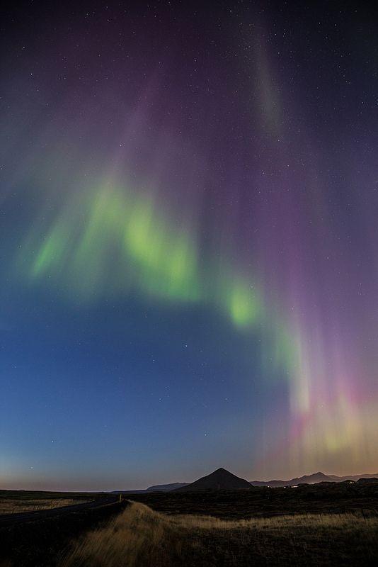 Light up lake Myvatn  #Iceland #Landscape #nature #northernlights #myvatn #stars