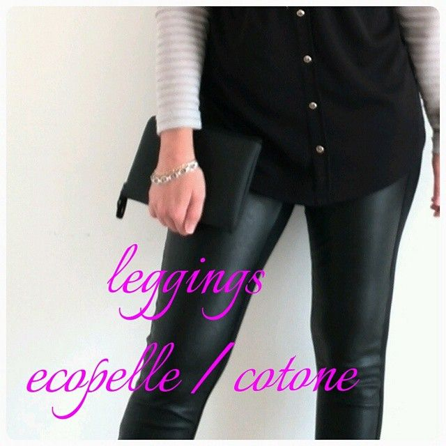 leggings in ecopelle