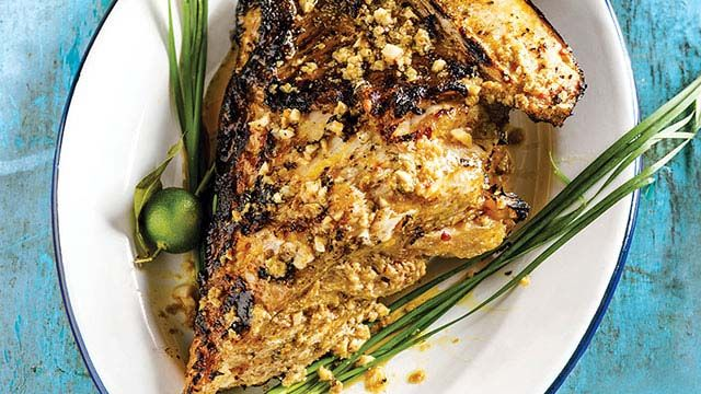 Grilled Marlin with Aligue Sauce Recipe