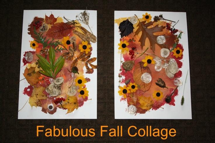 fabulous fall collage: Fall Leaves, For Kids, Fall Crafts, Fall Collage, Art, Preschool Fall, Fall Activities, Fall Theme, Fabulous Fall