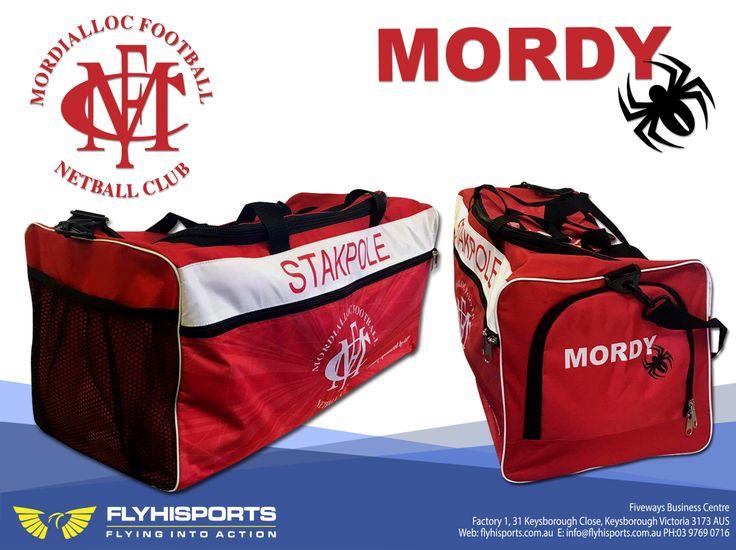 @flyhisports #mordiallocfootballnetballclub #mordy #sportbag #bag #merchandise #spider #flyhisports