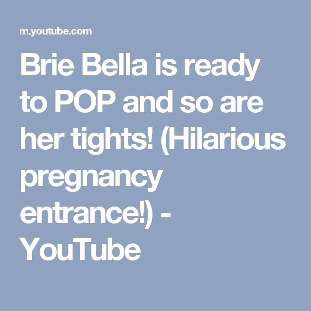 Brie Bella is ready to POP and so are her tights! (Hilarious pregnancy entrance!)  - YouTube