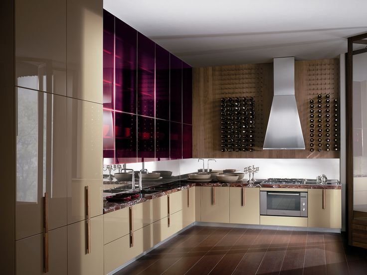 Lacquered kitchen with handles BARRIQUE | Marble kitchen - ERNESTOMEDA