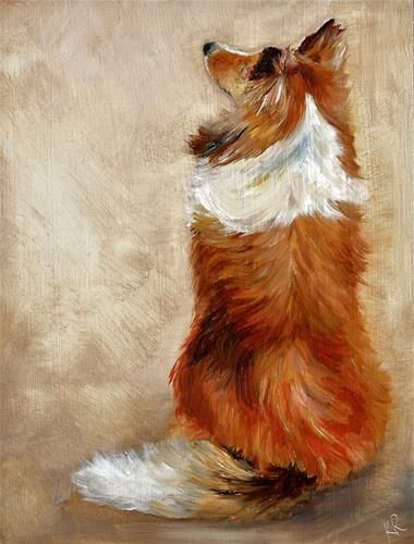 Waiting for treats - Original Fine Art for Sale - © by Karen Robinson