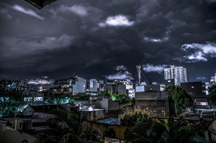 Una noche de lluvia en Buenos Aires.   #Lluvia #Tormenta #BuenosAires