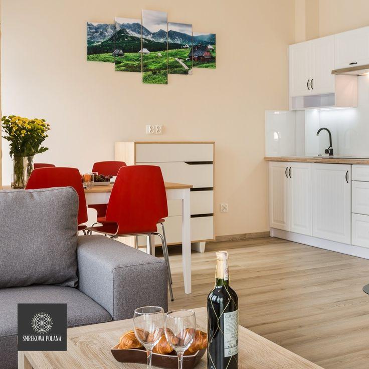 Apartament Kasprowy - zapraszamy! #poland #polska #malopolska #zakopane #resort #apartamenty #apartamentos #noclegi #livingroom #salon #kitchenette