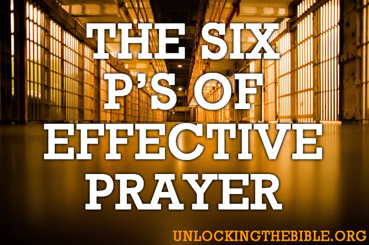 The 6 P's of Effective Prayer    http://www.facebook.com/UnlockingTheBible