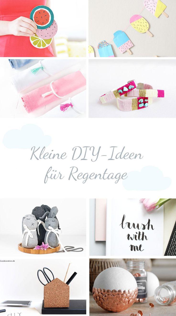 Kleine DIY-Ideen für Regentage