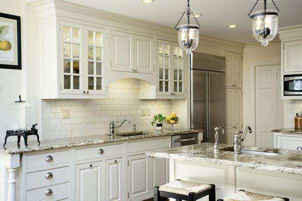 white shaker cabinets granite countertops kitchen design ideas glass cabinet doors - my ideal kitchen!!!
