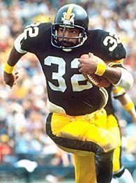 Franco Harris , fullback  1973-1982,  Steelers all-time leading rusher and MVP of Super Bowl IX (1975).