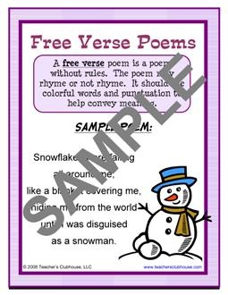 free verse poem definition and example - Google Search