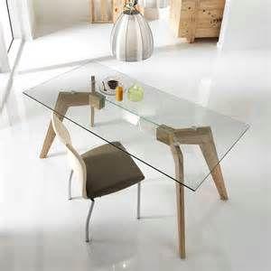 designer esstisch glasplatte holzbasis m246belideen