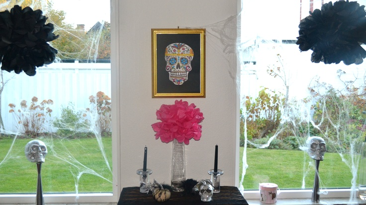 I am sooo in love with pom poms! Pink pom pom for Halloween? Why not? Its all about your imagination!