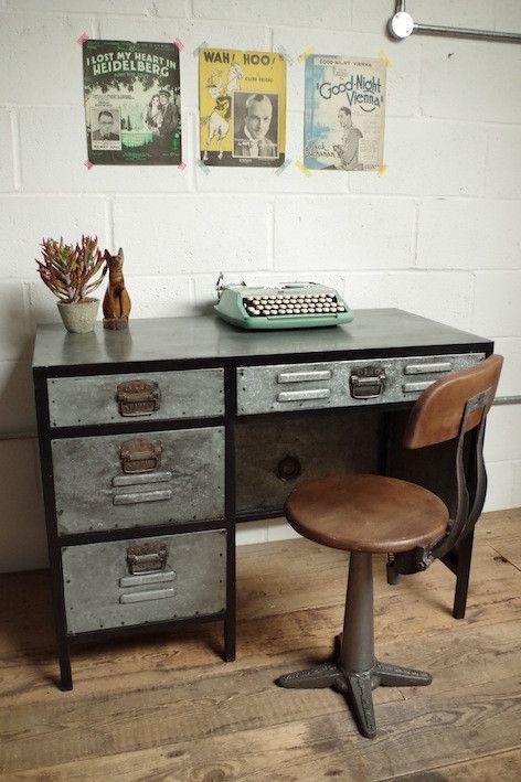25 Best Ideas about Industrial Desk on Pinterest  Industrial