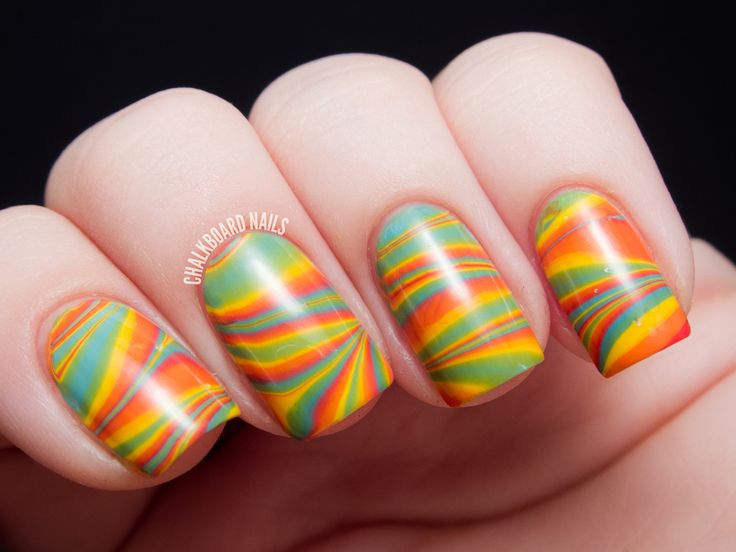 14 best Marbling Nail Art images on Pinterest | Chalkboard nails ...