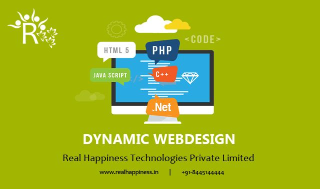 Dynamic Web Designing in Rishikesh, Uttarakhand A dynamic website is one whose content is regenerated every time a user visits or reloads the site.A dynamic website can contain client-side scripting or server-side scripting to generate the changing content or a combination of both scripting types. These sites also include HTML programming for the basic structure. https://realhappiness.in/web-designing-in-rishikesh.html