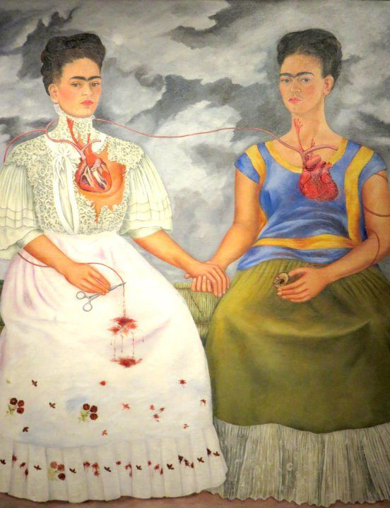 Solo Travel to Mexico City - Museum of Modern Art features Frida Kahlo's painting Las dos Fridas - SoloTripsAndTips.com