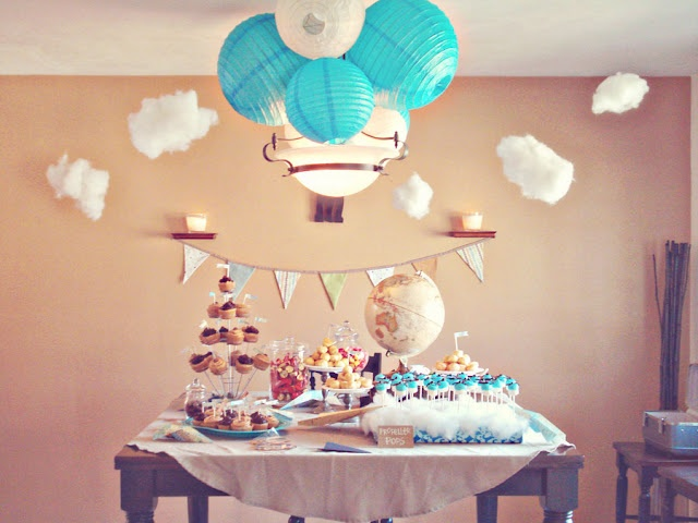 Oldie But Goodie From Last Year: Our BFFu0027s Vintage Travel Themed Baby Shower