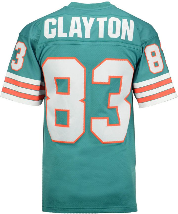 competitive price a5a59 04bf5 Mitchell & Ness Men's Mark Clayton Miami Dolphins Replica ...