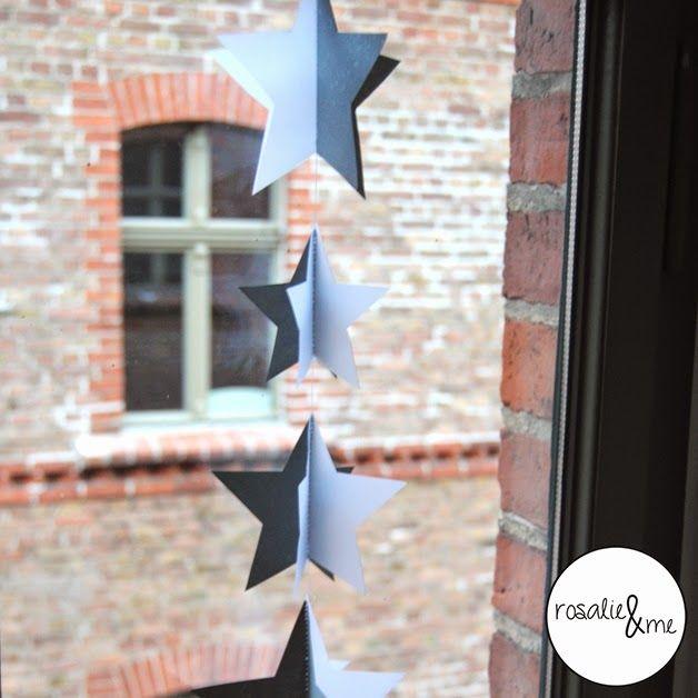Rosalie&me // Winterdeko // winter decoration // stars // window // DIY