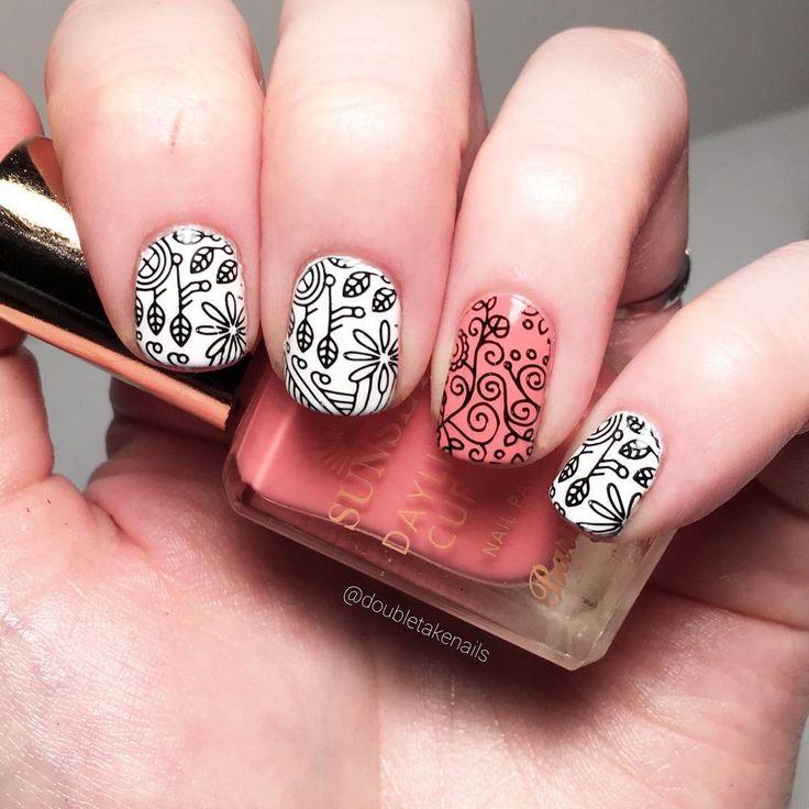 Scandi 06 | Nails | Nail art designs, Nail Art, Stamping ...