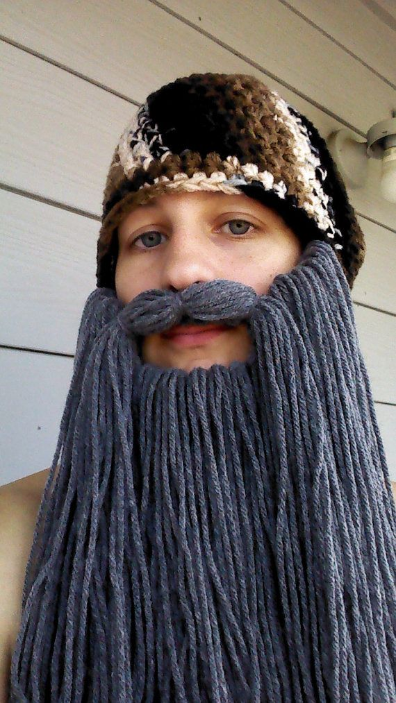Duck Dynasty Crochet Camouflage Beard Hat (Detachable Beard) $30.00