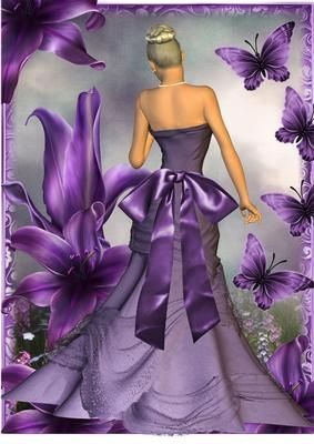 Beautiful purple lily A4 size on Craftsuprint designed by Julie Hutchings - A4 size of the beautiful purple Lily great as a card front or picture print it off twice or more if you want to add decoupage - Now available for download!