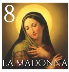 Number 8: 'A Madonna' meaning our lady. Enter our #NeapolitanTombola and #win a meal for two EVERY DAY. Full info here: http://www.rossopomodoro.co.uk/events/neapolitan-tombola-competition/
