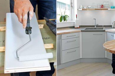 Køkkenlåger: Hvordan maler vi køkkenlågerne? | Gør Det Selv