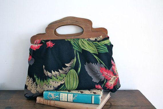 21 Best Wooden Handle Bag Images On Pinterest Crochet
